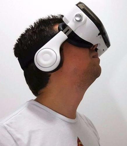 vr box 3d con auriculares 120°