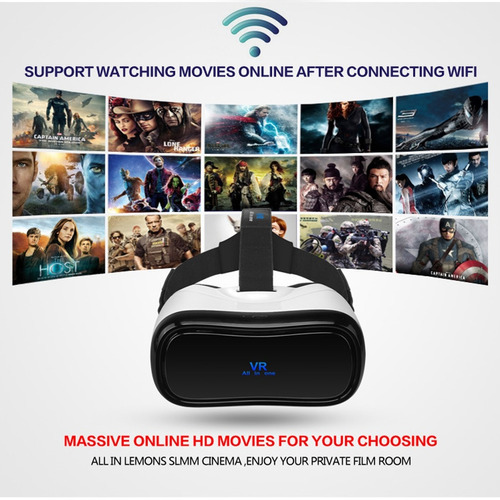 vr caja auricular android 5.0 wifi bluetooth 3d realidad