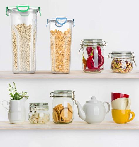 vremi plástico cereal contenedores almacenamiento set con t