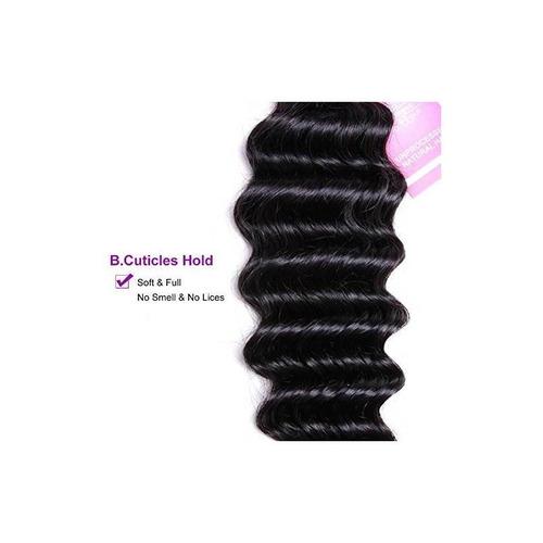 vrvogue brazilian deep wave 3 bundles 100% cabello humano 7a