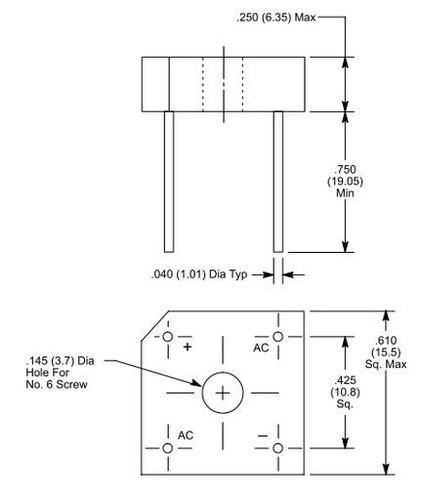 vs848-8101 = nte5316 puente rectificador 800 volt 8 amp