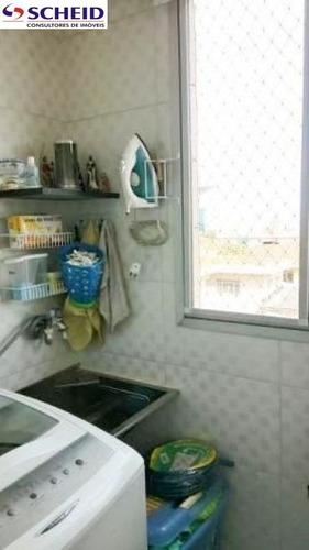 v.s.catarina, 52m², reformado, tela nas janelas, piso frio, 2 dorm, 1 vaga, próx. a todo comercio - mc3479