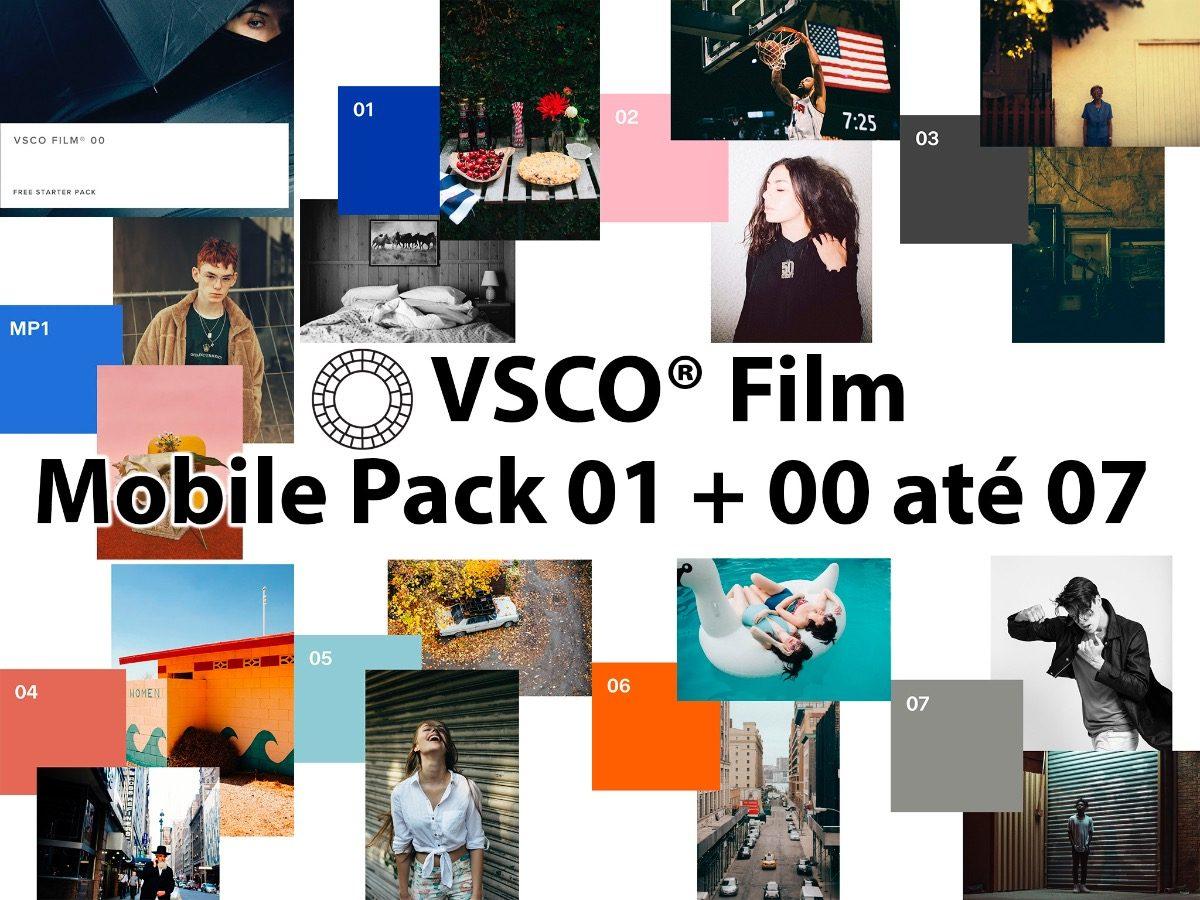 Vsco Film Presets 00 Até 07 + Mobile Pack 01 E 02