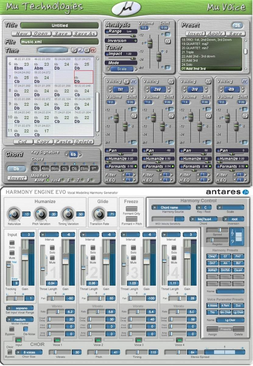 Vst Harmonia Vocal Mu-voice + Harmony Engine ** Downloald **
