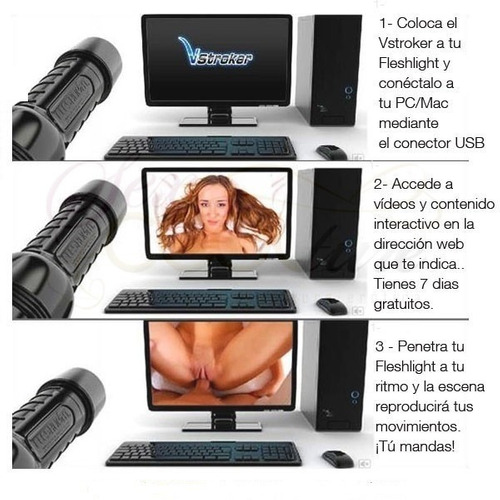 vstroker by fleshlight / sexo virtual/ adaptador masturbador