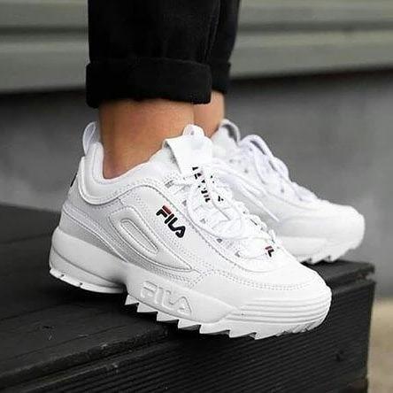 vsv zapatos fila disruptor blanco (2019) tienda fisica