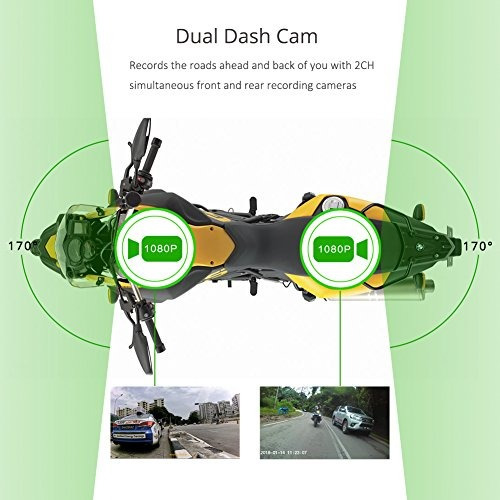 vsysto wifi soporte motocicleta camara grabadora dvr con dob