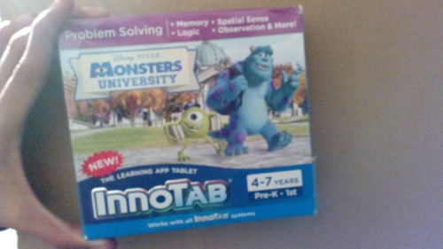 vtech innotab juego cartucho monster university