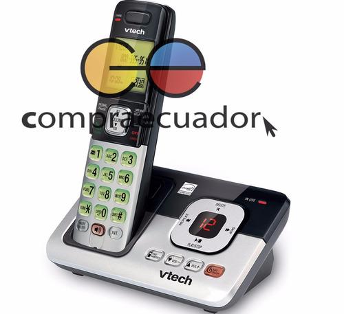 vtech teléfono analámbrico + contestador + identificador 6.0