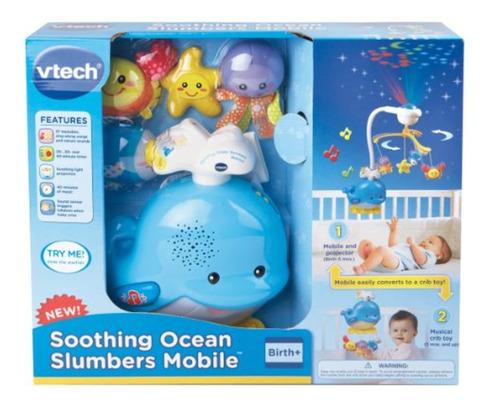 vtech vtech soothing ocean slumbers mobile, blanco