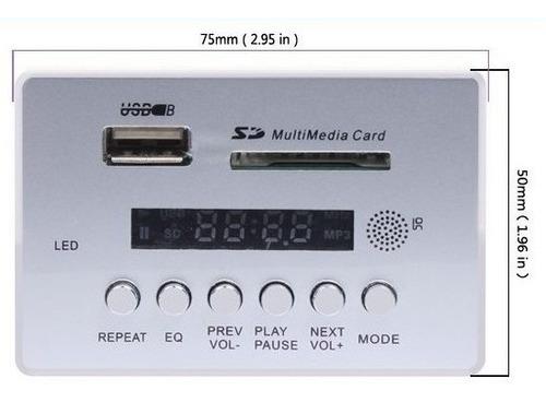 vtf-002bt  usb sd mp3 módulo usb mp3 remoto