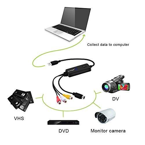 v.top usb 2.0 video captura de audio tarjeta vhs to dvd conv