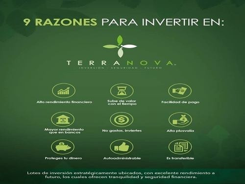 vtr-17004 excelente oportunidad de adquirir lotes de inversiòn en terranova