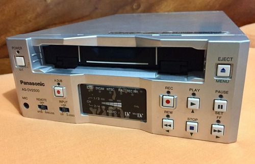 vtr panasonic ag-dv2500  mini-dv palm / ntsc.