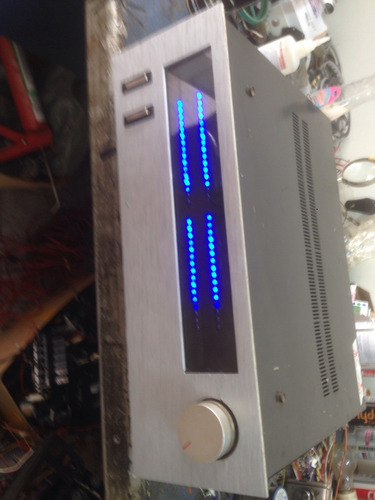vu meter led gabinete gradiente  receiver