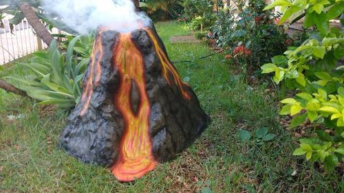 vulcão decoração mesa festa tema dinossauros aluguel  venda