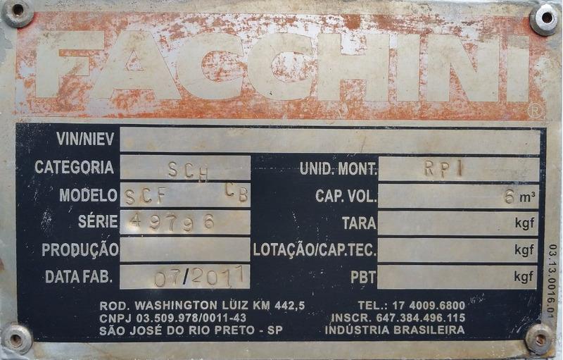 vw 13.180   ano  2011  com basculante  6.mt