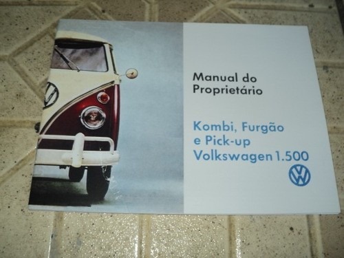 vw  1500 camionetas kombi 1968 manual reprint