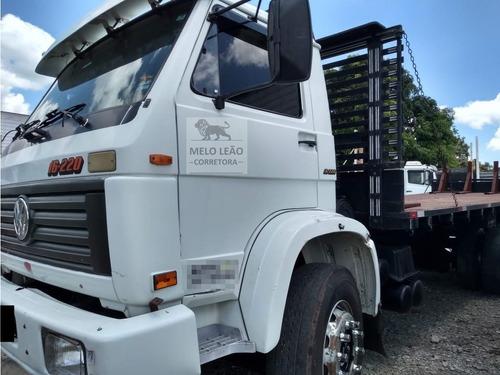 vw 16-220 - 98/98 - truck, carroceria c/ assoalho de chapa