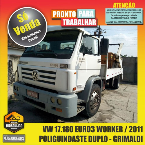 vw 17.180euro3 worker / 2011 - poliguindaste duplo grimaldi