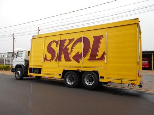 vw 17190 2013 6x2 baú de bebidas único dono itália caminhões