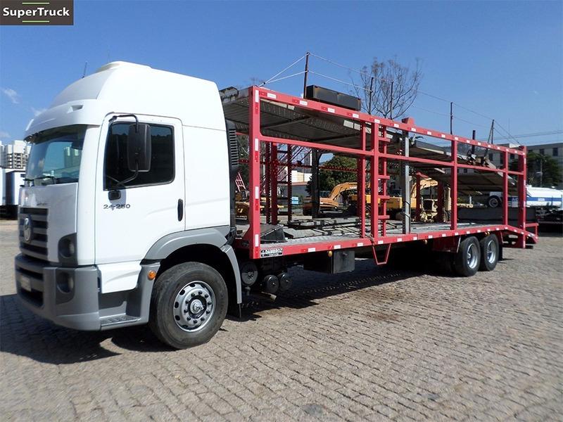vw 24.250 6x2 caminhão cegonha p/ 7 carros