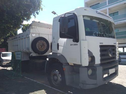 vw 24250 const 6x2 truck ano 2008/09 caçamba rossetti.