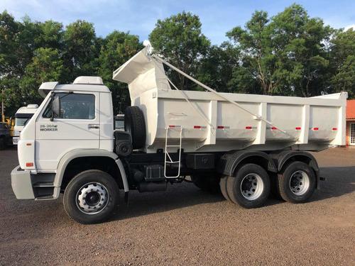 vw 26260 6x4 2008 basculante traçado bx km f f caminhões