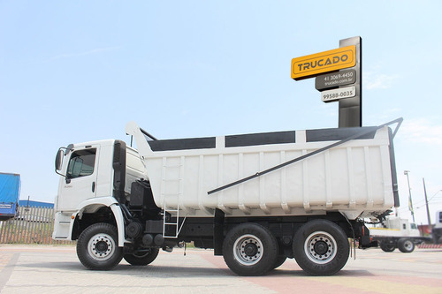 vw 31280 6x4 truck 2015 caçamba reta 16 = 8 12 25m³