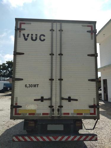 vw 5-140, ano 2008, baú carga seca de 4.20 mts