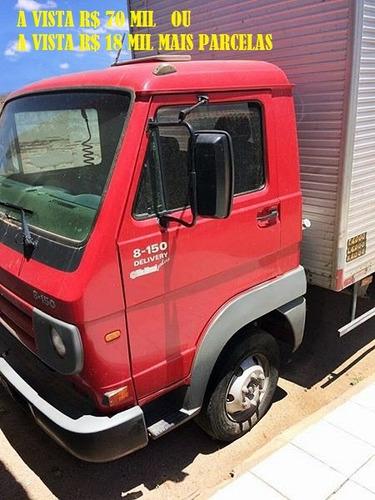 vw 8150 com baú  ano 2011 vermelho