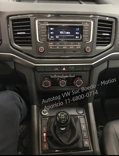 vw amarok trendline cab doble cd 4x4 2.0 td 140 2019 0km #a2