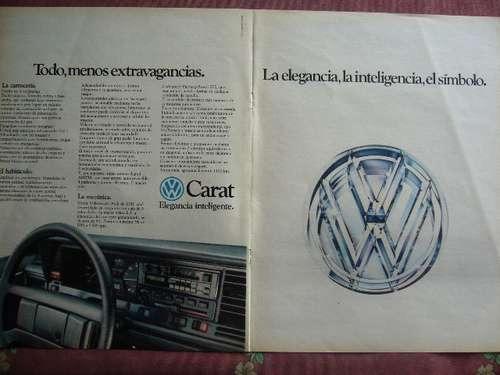 vw carat publicidad de 4 páginas