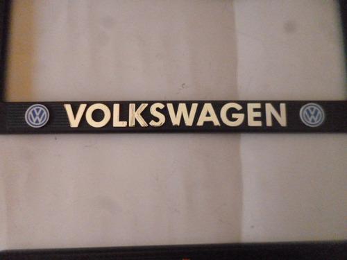 vw caribe gt portaplacas golf letras cromadas par nuevos a2