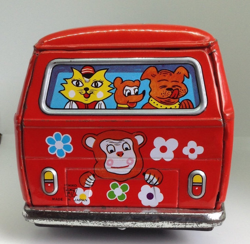 vw combi leon y animales  de pasajeros de friccion de ichiko