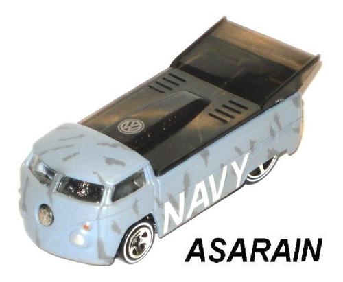 vw - drag truck navy camuflada hot wheels - 1/64