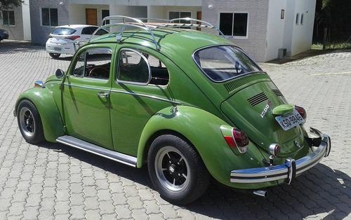 vw fusca fuscão ano 1972 verde motor 1500 + acessorios raros