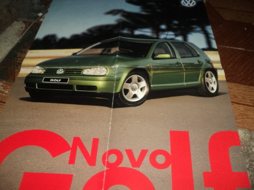 vw golf poster frente e verço 50x60cm f.concessionaria