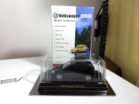 vw golf r32  coleção 1 kyosho escala 1/64