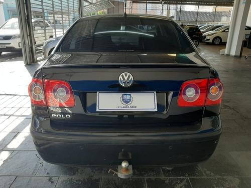 vw polo sedan 1.6 flex completo 2007 preto
