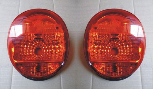 vw sedan 1973-2004 calaveras rojas vocho bocho  par