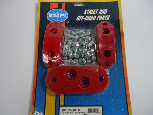 vw sedan empi soportes de uretano rojos vocho caja motor