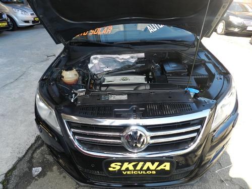 vw tiguan 2.0 tsi turbo 2011 preta/top de linha/int.caramelo