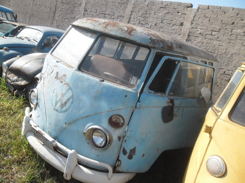 vw van bus kombi barn door 1950 p/ restaurar lata ano 1957