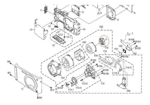 vxp2896 frame diafragma camara dmc-fs3 y dmcls80 3a