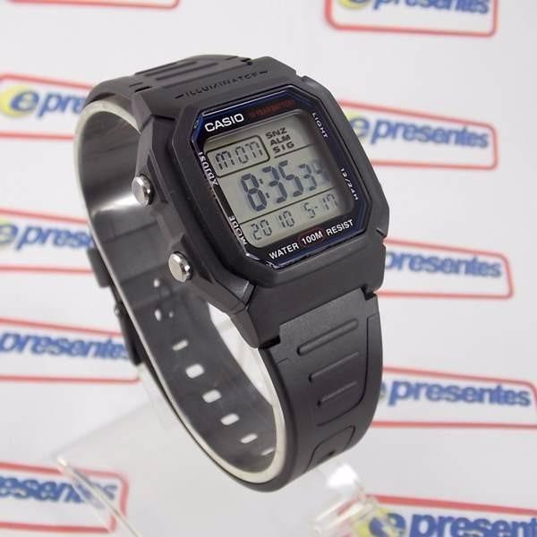 50fe9a3c265 W-800h 1av Relógio Casio Bateria De 10 Anos Prova Dagua 100m - R ...