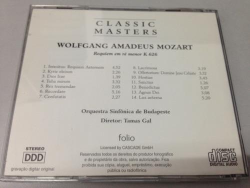 w a mozart requiem em ré menor k 626 - cd (1667)