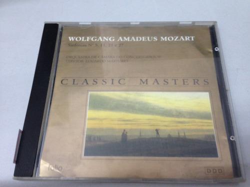 w a mozart sinfonia nº 5 11 21 e 27 - cd (1668)