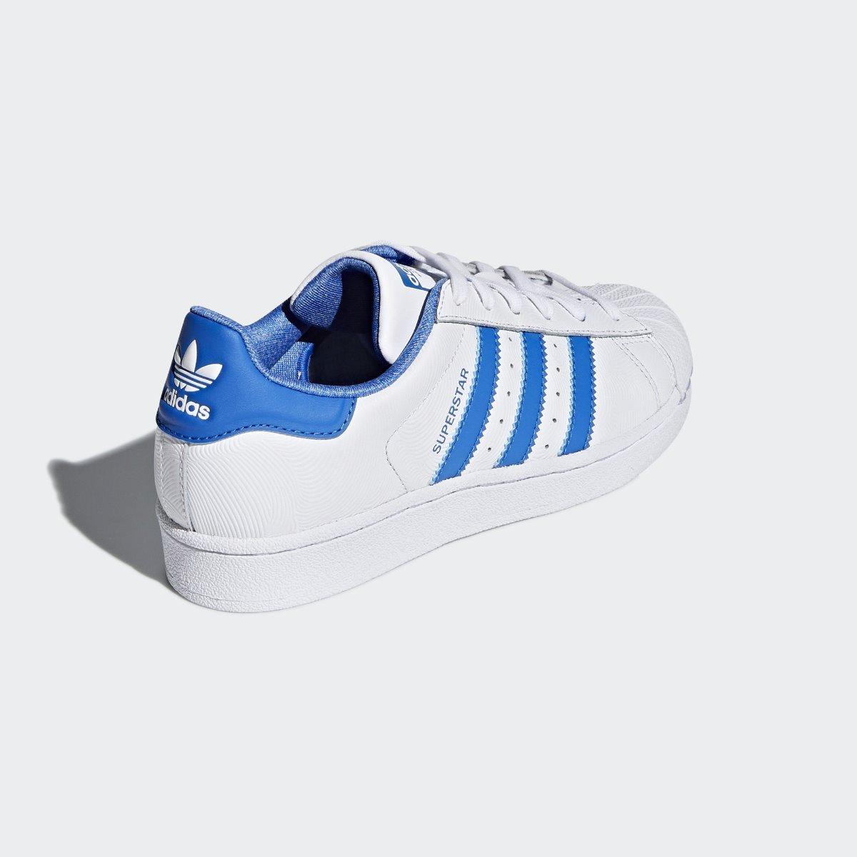 adidas superstar blanco azul