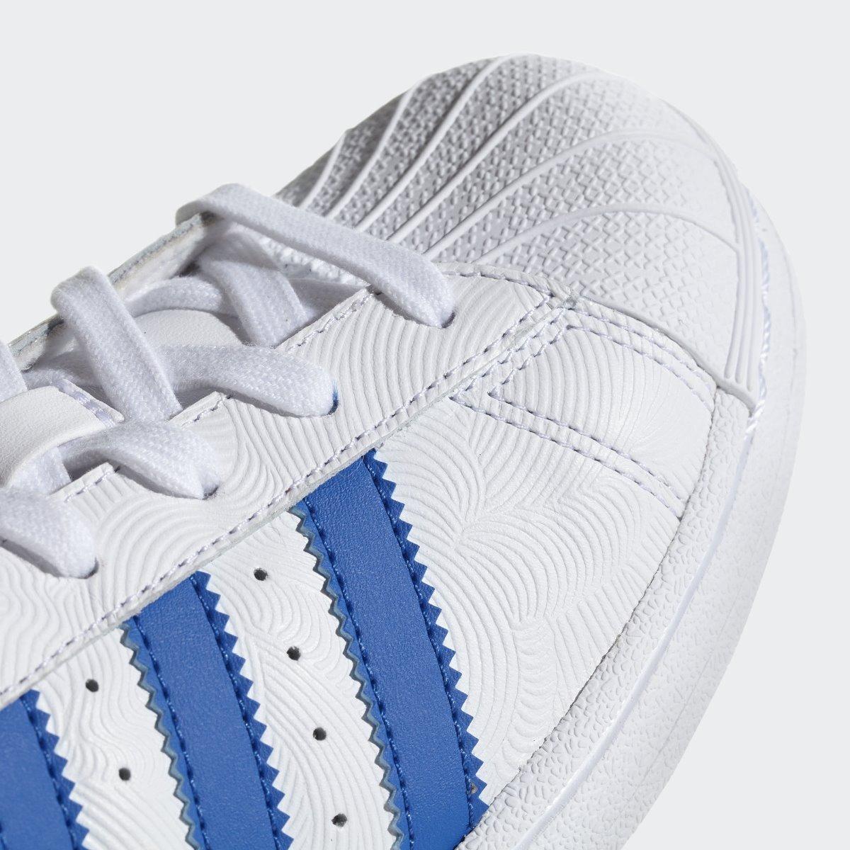 adidas superstar blanco y azul